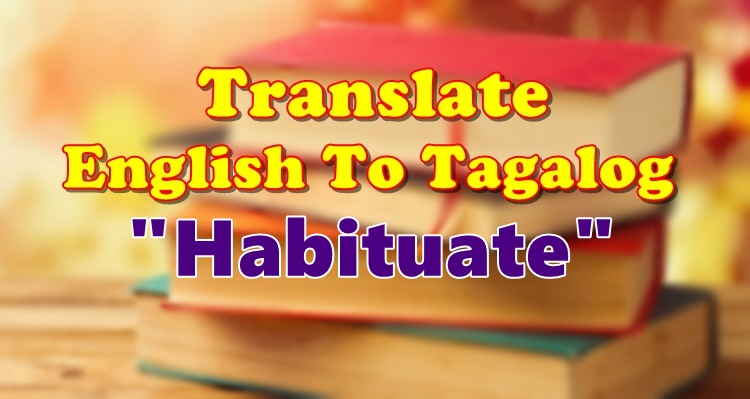 Translate English To Tagalog Habituate