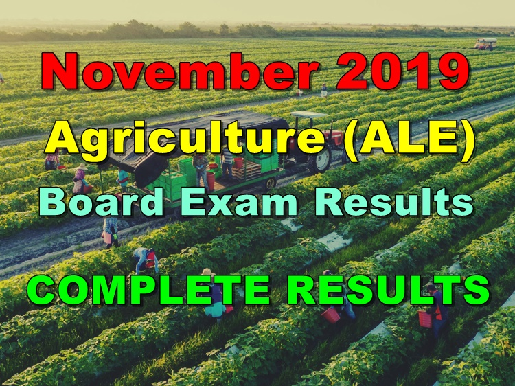 Agriculture Board Exam Results
