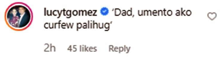 lucy torres comment