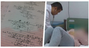 Mother Explaining Math Homework To Son Has Heart Attack