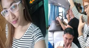 Lady Passenger Slams Male Commuter For Not Giving Her Seat