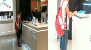 Young Kid Do Homework at Mall for Having No Internet Access at Home