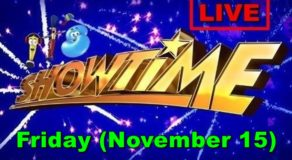 Kapamilya It's Showtime – November 15, 2019 Episode (Live Streaming)