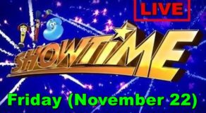 Kapamilya It's Showtime – November 22, 2019 Episode (Live Streaming)