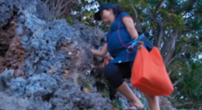 Pregnant Teacher Trecks Rocky Sea & Cliffside For 3 Hours Just To Teach