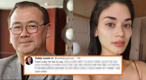 Teddy Locsin on Pia Wurtzbach's view on 'Imperfections': 'Easy for her to say'