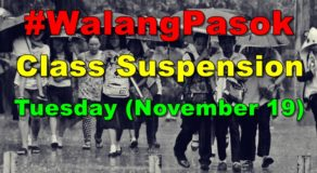 #WalangPasok: Class Suspension Declared In These Areas Today (November 19)