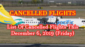 LIST: Cancelled Flights (Domestic) This December 6