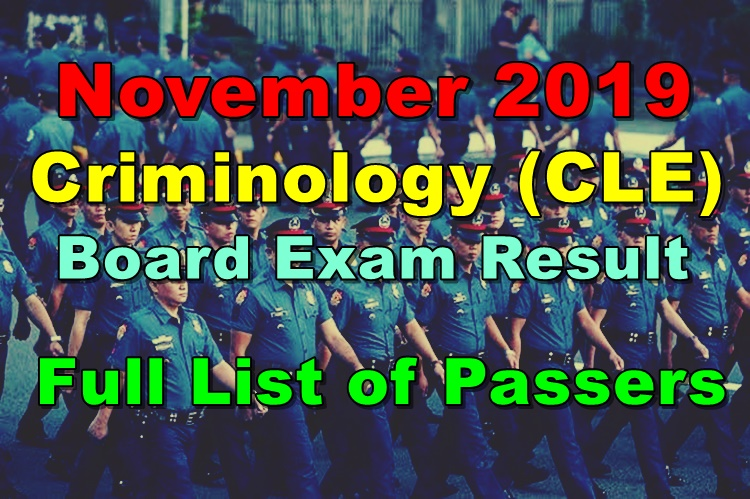Criminology Board Exam Result