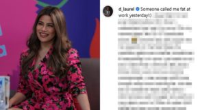 Denise Laurel Fat-Shamed At Work, Actress Speaks About Offensive Remark