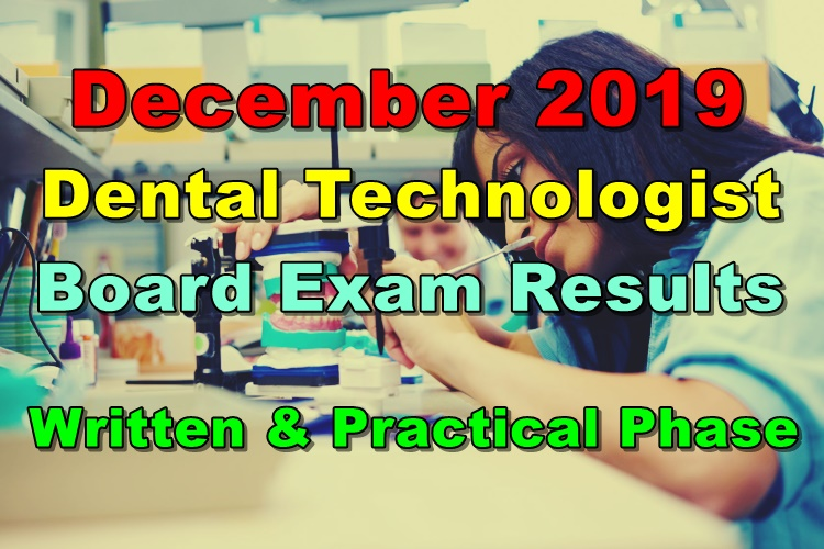 Dental Technologist Board Exam Result