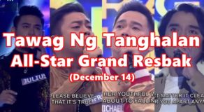 Tawag Ng Tanghalan All-Star Grand Resbak December 14 Winners