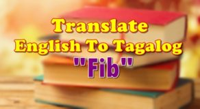 "TRANSLATE ENGLISH TO TAGALOG – ""Fib"""
