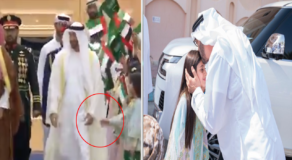 Crowned Prince in Abu Dhabi Visit a Girl After Failing to Shake Its Hands