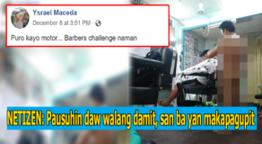 Photo: Witty Unclothed Barber While Cutting Customer's Hair Goes Viral