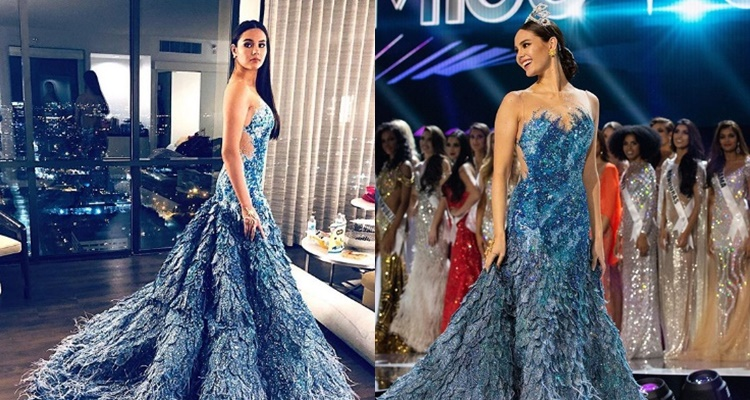 catriona gray reflection gown