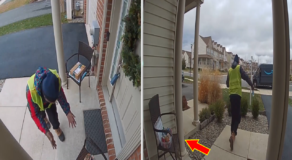 Delivery Man was Overjoyed at Goodies Left for Him on a Family's Porch