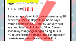 LTO Confirms Tesda NC-II as Requirement for Students Permit is Fake News