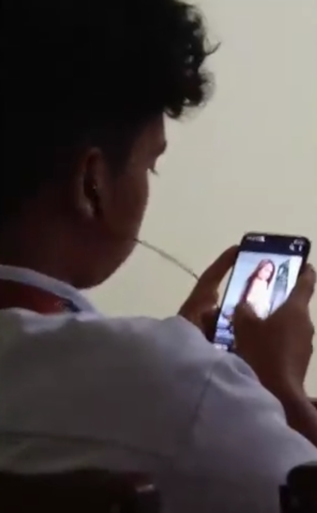 Male Student Caught