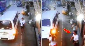 Hilarious Reaction of Man When a White Van Stop Beside Him Viral Online