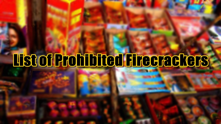 prohibited firecrackers