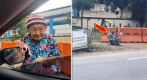 Elderly Woman Sells Rags for Her Grandchildren Goes Viral