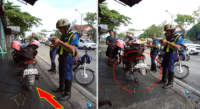 Motorist with Broken Tires Got Arrested by Traffic Cops for Illegal Parking Violation