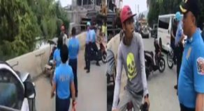 Police Officers Shocks Poor Pedicab Driver Looking for Passengers