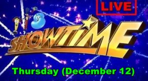 Kapamilya It's Showtime – December 12, 2019 Episode (Live Streaming)