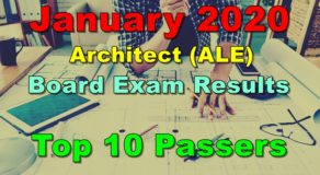 Architect Board Exam Result January 2020 – Top 10 Passers