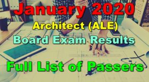 Architect Board Exam Result January 2020 – Full List of Passers