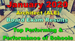 Architect Board Exam Result January 2020 – Top Performing & Performance of Schools