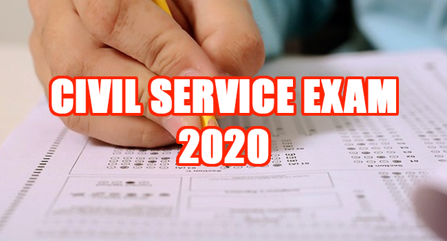 CIVIL SERVICE EXAM 2020
