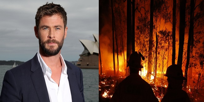 Chris hemsworth Australia Wildfire