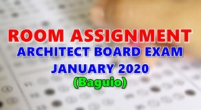 Room Assignment Architect Board Exam January 2020 (Baguio)