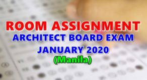 Room Assignment Architect Board Exam January 2020 (Manila)