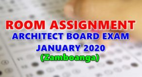 Room Assignment Architect Board Exam January 2020 (Zamboanga)