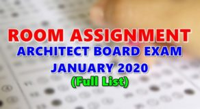 Room Assignment Architect Board Exam January 2020 (Full-List)