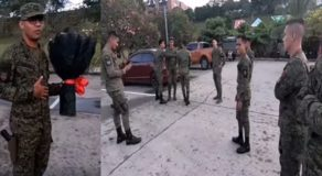 VIDEO: Soldier Pops Big Question To GF W/ Help Of Fellow Troops