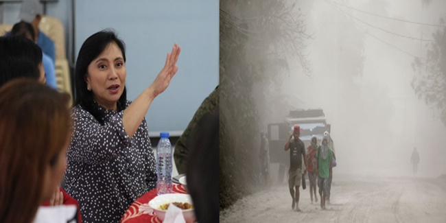Taal volcano eruption affected communities Leni Robredo