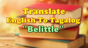 "TRANSLATE ENGLISH TO TAGALOG – ""Belittle"""