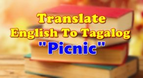 "TRANSLATE ENGLISH TO TAGALOG – ""Picnic"""
