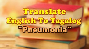 "TRANSLATE ENGLISH TO TAGALOG – ""Pneumonia"""