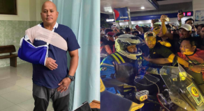 Bato Dela Rosa's Motorcycle Crashes During Boss Ironman Challenge
