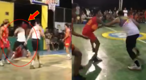 Cranky Basketball Player Assaults His Opponent for Tight Defense (Video)