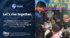 Globe: User's Reward Points Can Be Used as Donations to Taal Victims