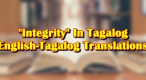 Integrity In Tagalog: English To Tagalog Translations