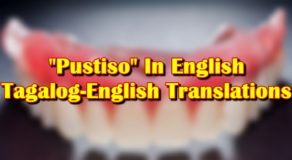 "Pustiso In English: Tagalog-English Translation Of ""Pustiso"""