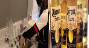 Health Conscious Lady Pours Corona Beers Thinking It Would Spread Coronavirus