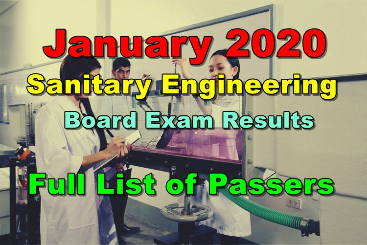 Sanitary Engineering Board Exam Results
